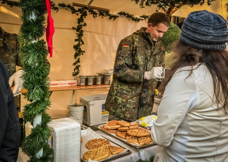 Visiting the German Armed Forces Command Christkindlmarkt in Reston, Virginia